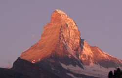 Das Matterhorn in der Abendsonne